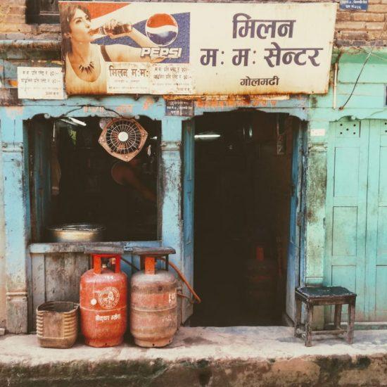 Calle en Katmandú
